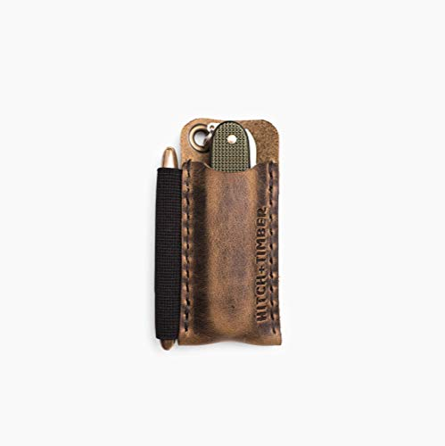 The Pocket Runt by Hitch and Timber ~ Leather EDC Slip for Everyday Carry, Knife Sheath, EDC organizer, EDC Slip, Made in USA