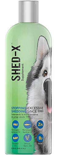 Shed-X Dermaplex Liquid Daily Supplement for Dogs – 100% Natural – Eliminate Excessive Shedding with Daily Supplement of Essential Fatty Acids, Vitamins and Minerals (32 oz)