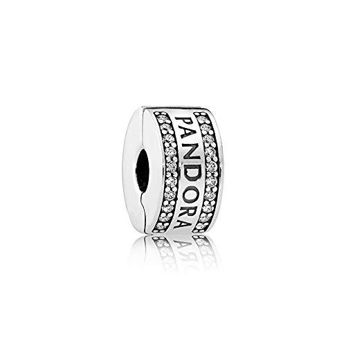Pandora 792056CZ Forever Clip per bracciali Donna, Argento Sterling 925