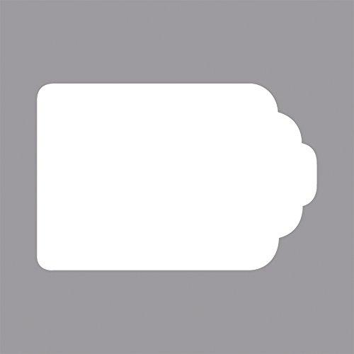Rayher Hobby 69096000 Motivstanzer Tag/ Etikett, ø 6,8 x 4,5 cm- 3 Zoll, geeignet für Papier/Karton bis zu 200g/m²