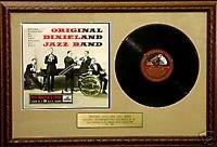 UK Music Awards originele Dixieland Jazz Band - originele zeldzame 10 Inch LP ingelijste presentatie