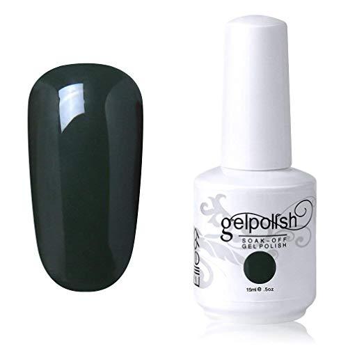 Elite99 Smalto Semipermente per Unghie in Gel UV LED Smalti per Unghie Soak Off per Manicure Verde scuro 15ML - 1020