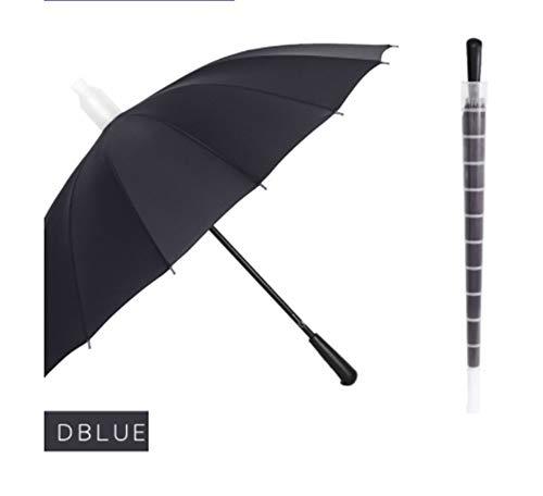 Paraplu 16 paraplu Korea grote regenboog paraplu waterdichte paraplu rechte paraplu paraplu professionele reclame cadeau paraplu (Rainbow, zwart, marine, wijn rood, koffie, paars)