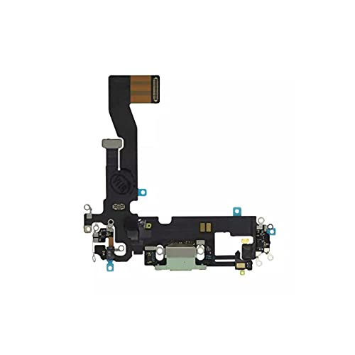Best Shopper - Replacement Charging Charge Port Flex Cable with Microphone for Apple iPhone 12 - Green