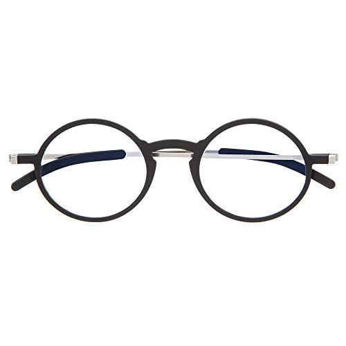 DIDINSKY Gafas de Lectura Graduadas Ultra Delgadas para Hombre y Mujer. Gafas de Presbicia muy Ligeras con Lentes con Protección Luz Azul. Graphite +1.0 - MACBA ROUND