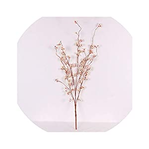 vivid-blue 95cm Artificial Silk Snow Lotus Cherry Blossoms Home DIY Decorative Fake Flowers Wedding Event Scene Layout Accessories,Milk White