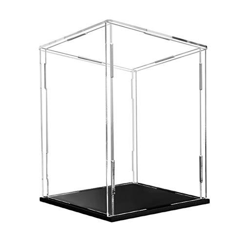 Premium Versátil Vitrina de acrílico Showcase, Clear, transparente Cubo a prueba de polvo, para figuras Joyas de acción Béisbol Coleccionables Modelo Modelo Caja de protección de almacenamiento, Base
