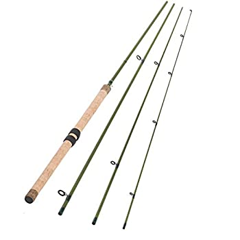 13FT 4 Pieces Carbon Fiber Sections CENTERPIN Float Fishing Rod Wooden Handle Steelhead Fishing Light CENTREPIN LINE WT 6-10LBS
