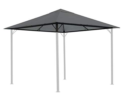 QUICK STAR Replacement Roof for Garden Gazebo 3x3m Gray