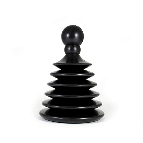 Master Plunger Mighty Tiny Plunger Designed for Bathroom/Kitchen Sinks, Perfect for RV's. Unclogs Fast & Easy (Patent Pending), Black