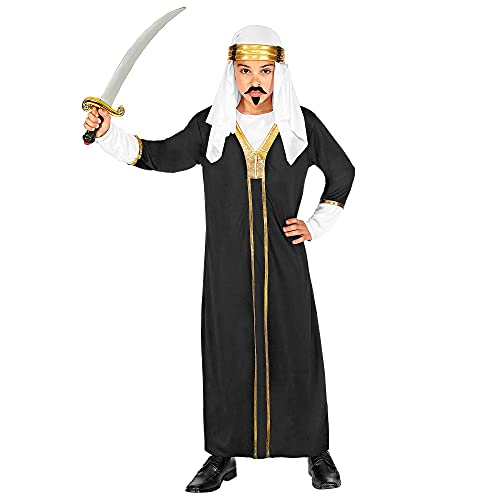 WIDMANN 00278 - Disfraz infantil de Sultan (158 cm), color negro , color/modelo surtido