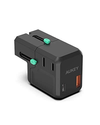AUKEY USB C Cargador de Red 18 W,Cargador portatil de 2 Puertos con Power Delivery 3.0 para iPhone 12/iPhone 12 Pro/12 Pro MAX/iPhone 11/11 pro/11 Pro MAX/XR/XS/X,Galaxy S10,Pixel 3/2 iPad Pro etc.