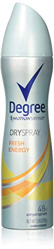 Degree Deodorant 3.8 Ounce Womens Dry Spray Fresh Energy (113ml) (2 Pack)