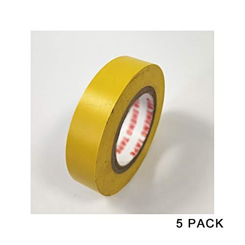 Isolatietape, voor verschillende soorten elektronische producten, draad, netwerkkabel, bouwplaats, 5 stuks (16 mm x 0,18 mm x 20 m) G