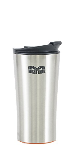 Mighty Mug Mini 12 oz Stainless Steel Tumbler, The Travel Mug That WonÕt Fall, with Double Wall Vacuum Insulation To Keep Your Drink Hot or Cold, 12 oz, Silver