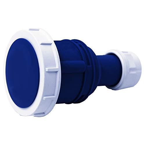 Electraline 80850 Presa Elettrica Industriale, IEC, 16A, 2P+T, 220V, IP67, Blu