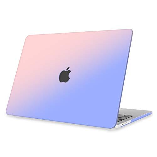 FINTIE Funda para MacBook Pro 13 (2020-2016) Carcasa Dura con Acabado Mate Sedoso para MacBook Pro de 13 Pulgadas, Rosa Azul