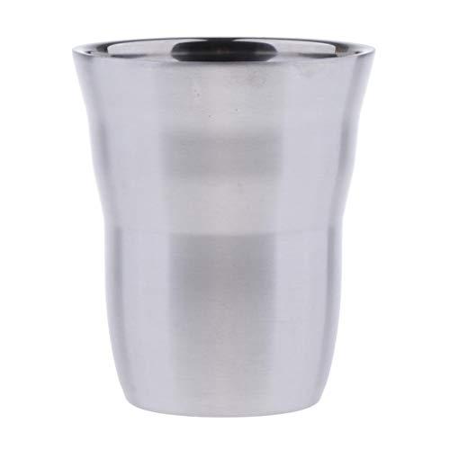Amuzocity Double Wall Wine Cup Edelstahl Bier Milchbecher Trinkreise 260ml / 9oz - Silber B