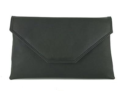 LONI Womens Stylish Clutch Purse Shoulder Bag Faux Leather
