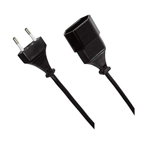 Odedo prolunga europea, cavo di alimentazione CEE 7/16 maschio a femmina, 2 metri, Power Extension Cable