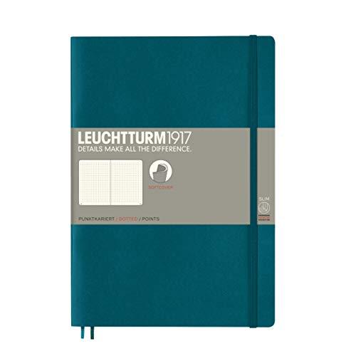 LEUCHTTURM1917 359676 Notizbuch Composition (B5) dotted, Softcover, 123 nummeriete Seiten, Pacific Green