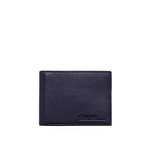 Luxury Fashion | Calvin Klein Heren K50K505653CEF Donkerblauw Leer Portemonnees | Lente-zomer 20