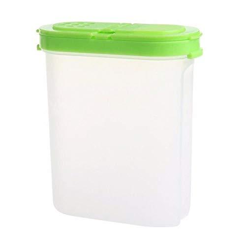 FEICHAIQAZ 2 Pezzi di plastica condimento Doppio Vaso Bottiglia condimento cremagliera Shaker Zucchero Ciotola Contenitore di stoccaggio Cucina, Verde