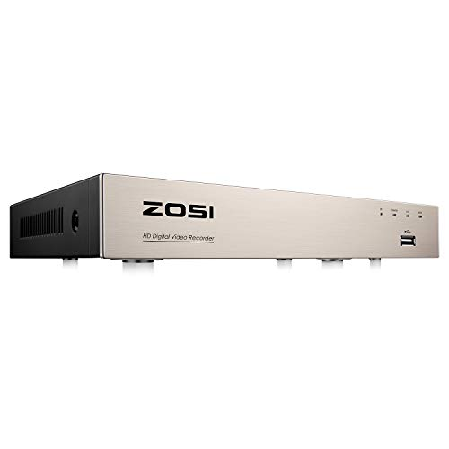 ZOSI H.265+ 5MP Lite 8 Channel Security DVR Recorder,8CH Hybrid 4-in-1 CCTV DVR for 960H 720P 1080P Home Surveillance Camera System,Remote Access, Motion Detection,24/7 Recording(NO HDD)