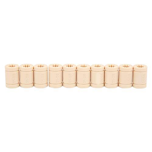 LM8UU cuscinetto boccola lineare in plastica parti 10 pezzi per campo automobilistico per macchine edili per tessuti