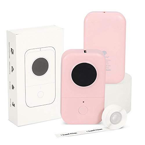 Phomemo D30 Etikettendrucker Aufkleberdrucker- Bluetooth Thermoetikettendrucker Entzückender Etikettieraufkleberhersteller, erfahrener Freundlich für Speicherung Namen, fähibel mit iOS Android, Rosa
