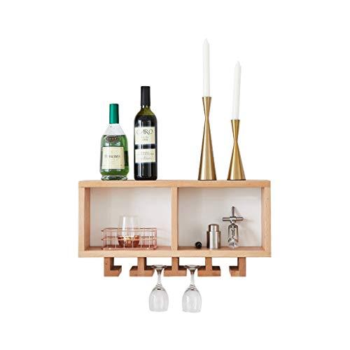 Nordic Style Massivholz Wand Weinregal Restaurant Wandbehang Ideen Plaid Black Walnut Weinkühler mit Getränkehalter