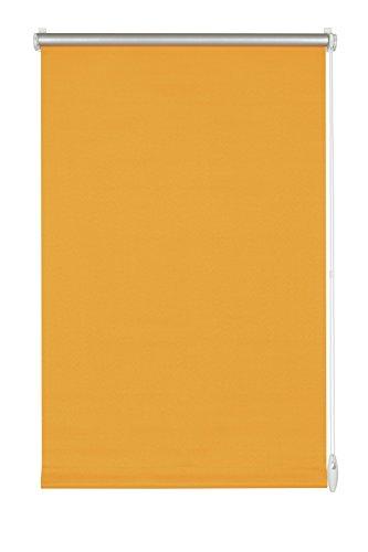 GARDINIA Thermo-Rollo mit Thermo-Rückseite zum Klemmen oder Kleben, Höchste Lichtreflektion, Energiesparend, Lichtundurchlässig, Alle Montage-Teile inklusive, EASYFIX Rollo Thermo, Orange, 75 x 150 cm (BxH)
