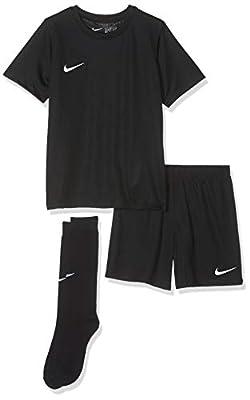 Nike Park Little Kids Jersey Soccer Kit Set (Black, XL)