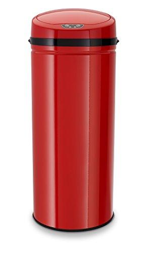 Echtwerk EW-AE-0250 Edelstahl Abfalleimer 42L mit IR Sensor, Inox Red
