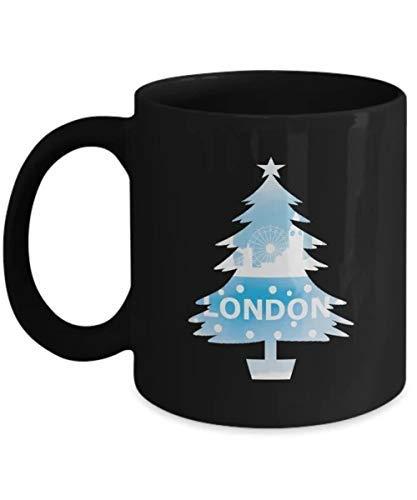 N\A La Mejor Taza de Regalo Hermoso Horizonte de la Ciudad de Londres para Navidad Regalo Divertido de la Taza