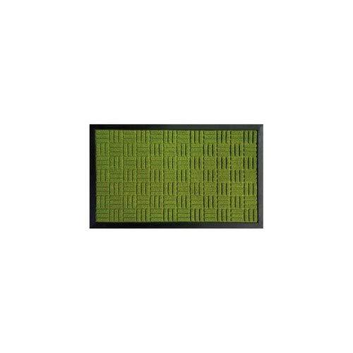 ID Mat RUBBERBRUSH457507 Rubber Brush tapijt, synthetische vezel/rubber, groen, 45 x 75 cm