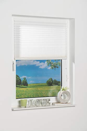 K-home Klebe-Plissee Weiß Lichschutz 40 x 130 (B x L)
