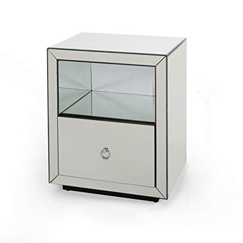 Christopher Knight Home Nina Modern Mirrored One Drawer Cabinet
