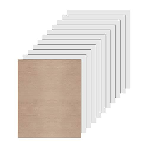JANDJPACKAGING White Heat Transfer Vinyl HTV Bundle 10x12- 10 Pack of Premium White HTV Sheets - Iron On Vinyl for T-Shirt Best HTV Vinyl for Silhouette Cameo,Cricut