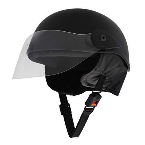 Sage Square Scooty Half Helmet for Men, Women (Black Matte, Medium)