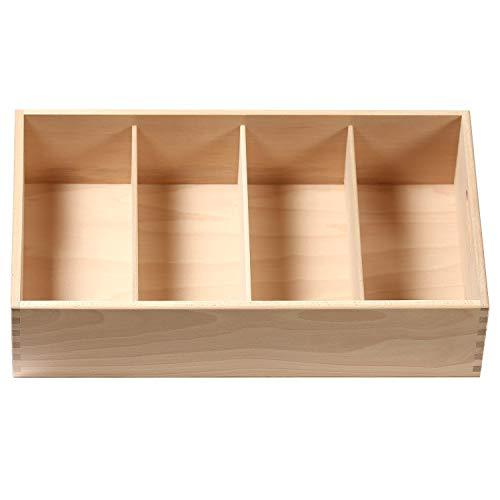 Bütic Besteckkasten für Haushalt und Gastro aus Buchen Holz - 3fach, 4fach, 5fach, Artikel:4-Fach Gastro