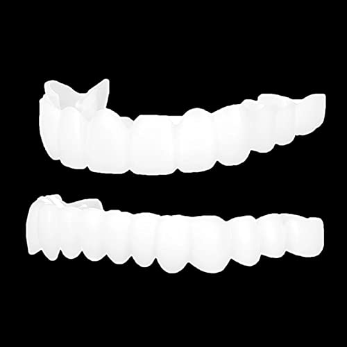 Snap On Teeth Cover Perfect Smile Fit One Size Fits Most Comfortable Denture To Make White Tooth Beautiful Neatr (2pcs)