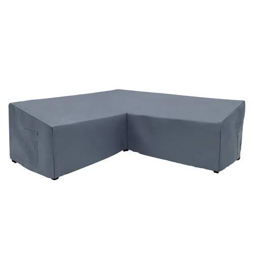 Yolaka Garden Furniture Corner Sofa Set Cover Outdoor V Shaped Grey 254x254 cm Waterproof
