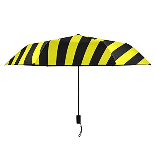 Damen-Sonnenschirm-Warn-Rechteck-Gelb-Streifen-Reise-Regenschirme für Männer tragbare leichte winddichte Männer winddichter Regenschirm-Sonnenregen-perfekter faltender Reiseschirm