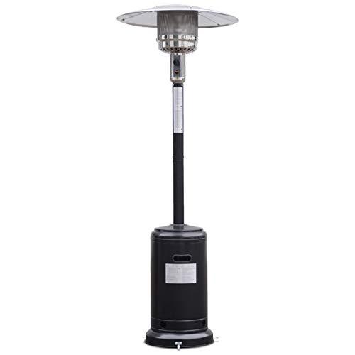 Giantex Patio Heater, 41,000 BTU Steel Propane Heater Lp Gas W/Accessories, Floor-Standing Commercial Outdoor Heater (Black)