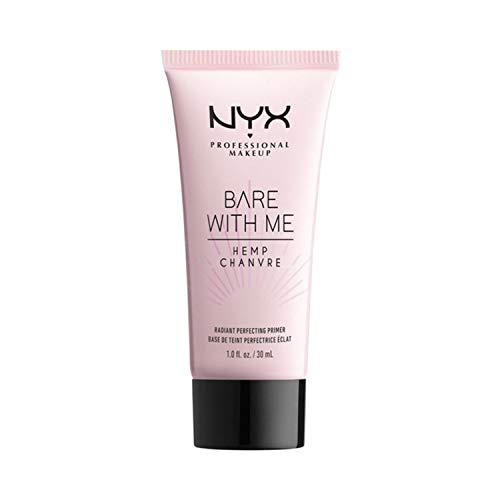 NYX Professional Makeup Bare with Me Hemp Radiant Perfecting Primer, Feuchtigkeitsspendendes Hanfsamenöl und indisches Wassernabel-Extrakt, Schillernde Mikroperlenformel, Von Hautpflege inspiriert