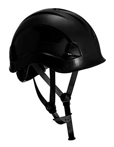 Boyd Safety Supplies Schutzhelm, Kletterarbeits-Schutzhelm, komfortabler & robuster Schutzhelm mit Gurt, entwickelt für Arbeiten in Höhen, Klettern, Turmarbeiter, schwarzer Schutzhelm