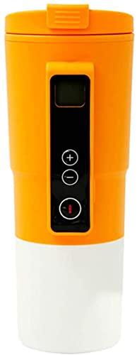Calentador de agua para coche, elegante control de temperatura, taza de café, taza de viaje, taza de viaje con calefacción eléctrica de 12 V de acero inoxidable