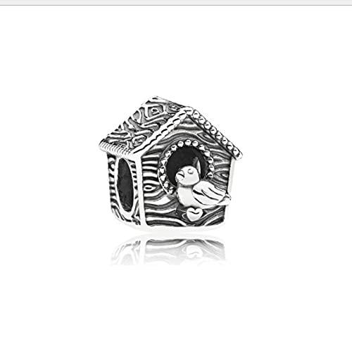 LILANG Pandora 925 Bijoux Bracelet en Argent Sterling Château Maison Bagages Boîte Au Trésor Planète Style Perles Perles Bricolage Accessoires A5 Charme Femmes Bricolage Cadeaux