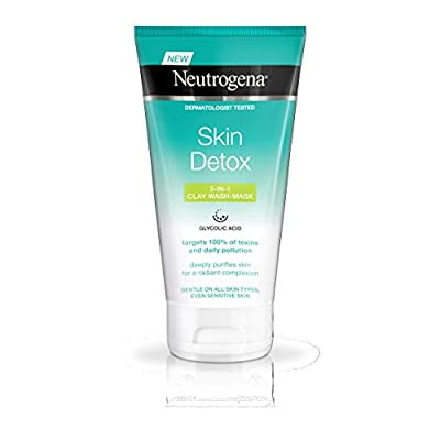 Neutrogena Skin Detox 2-In-1 Clay Wash Mask, 150 ml
